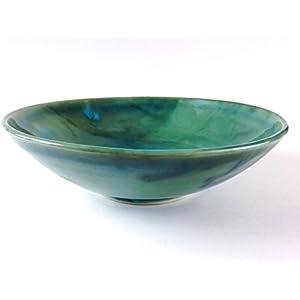 Pastaschüssel Jadegrün Steinzeug Handmade