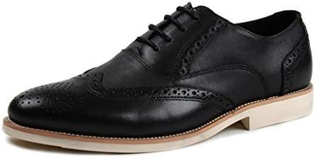 Zapatos Clásicos de Piel para Hombre Zapatos de Cuero para Hombres Ocio Zapatos de Encaje Estilo Británico con...