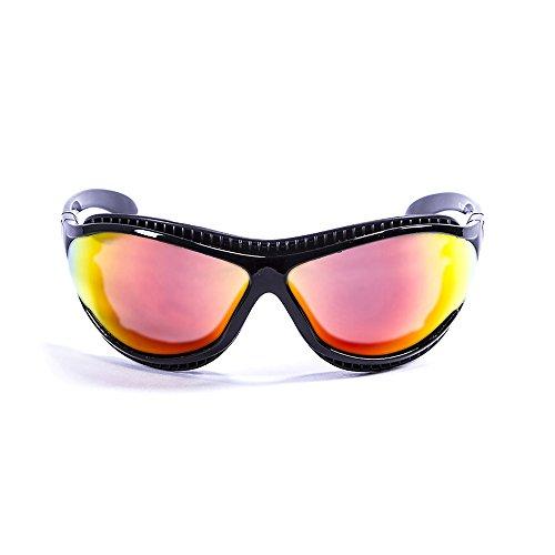 OCEAN SUNGLASSES - tierra de fuego - lunettes de soleil polarisÃBlackrolles  - Monture : Noir LaquÃBlackroll - Verres : Revo Jaune (12201.1)