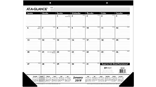 Einen Blick 2018Schreibunterlage Kalender Bundle, monatlich, liniert, 21-3/10,2x 43,2cm (SK24-00) 6-Pack Bundle (Auf Einen Blick Monatliche Kalender)