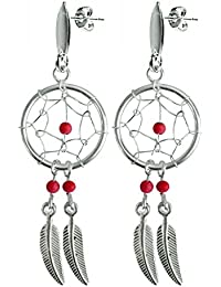 26142e947 Hand made Silver Dream catcher stud earring by BodyTrend - with genuine  stone. Beautifully designed and hand finished to a very high…