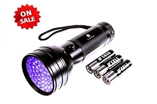 LUXX [Energieklasse A++] Taschenlampe Schwarzlicht mit 51 LEDs, Schwarz