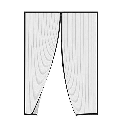 AMZERO Cortina Mosquitera Magnetica mosquiteros para Ventanas Magnética Automático con Durable para Puertas Correderas/Balcones/Terraza - Negro 105x200cm(41x79inch)