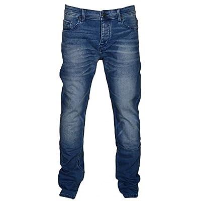 Hugo Boss Orange Blue Wash Tapered Fit Jeans