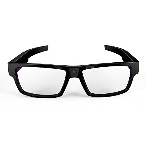 matecam 1080P Full HD Spy Gafas cámara Oculta con Touch botón Mini cámara Gafas dvr Grabador de vídeo DV videocámara, Color Built-in 16GB