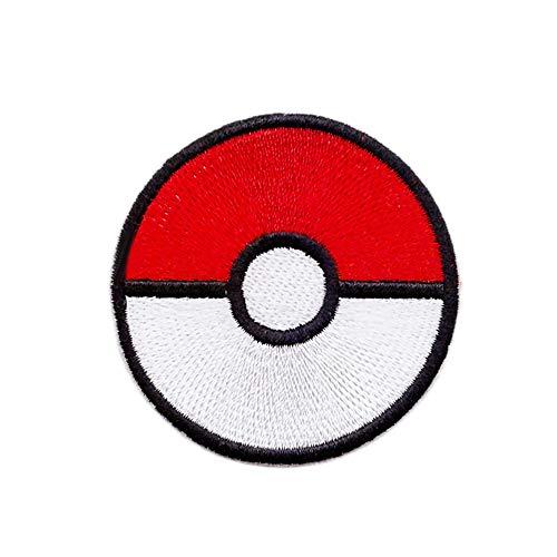 Pokeball Plus Master Ball Pokemon Spiel-Patch Kostüm Cartoon Logo DIY bestickt Aufnähen Aufbügler Jacke Hoodie Rucksack ideal als Geschenk / 7 cm (B) x 7 cm (H)