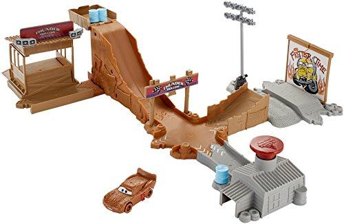Mattel Disney Cars DYB00 - Disney Cars 3 Thunder Hollow Stuntstrecke Spielset (ein Auto - Spielzeug-rennstrecke
