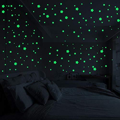 FTFSY 3D Stars Glow Wall Sticker In The Dark Luminous Fluorescent Wall Stickers Room Decor Special Wall decorbedroom Decor Stick,China