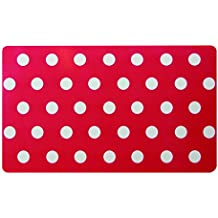 Unbranded 2012019 - Lote de 12 manteles individuales (plástico, 45 x 30 cm), diseño de lunares, color rojo y blanco