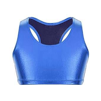 Image indisponible. Image non disponible pour la couleur   iixpin Haut  Fille Débardeur de Sport Gymnastique Yoga Brillant Top Fitness Musculation  Costume ... fddd07649a6