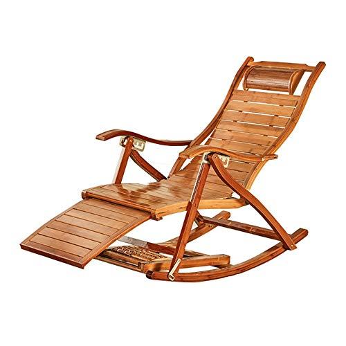 Klappbarer Schaukelstuhl Aus Holz, Holz Multifunktionale Klappstuhl Für Strand Garten Terrasse Camping Stuhl Hause Nickerchen Lounge Stuhl (95x47 cm) Freizeitstuhl (Color : A, Size : 95x47cm) -