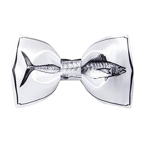 Cvbndfe Gentleman Fliege Verstellbare Klassische Smoking-Skizze für Herren Thunfisch-Fliege weiß Garderobe des ()