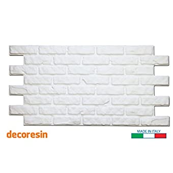 Panel ladrillo bruto blanco 110cm x 56cm
