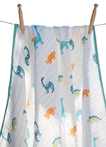 Angel Dear Soft Muslin Cotton Baby Napping Blankets (Dinosaur) by Angel Dear