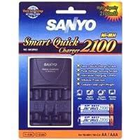 Sanyo NC-MQR02 Indoor battery charger Bleu - Chargeurs de batterie (100-240, 105 mm, 65 mm, 27,5 mm, 95 g, Bleu)