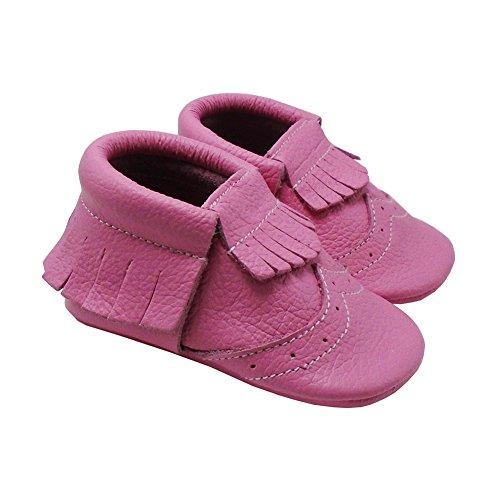 Mejale Weiche Sohle Leder Babyschuhe Lauflernschuhe Krabbelschuhe Kleinkind Kinderschuhe Hausschuhe Rosa