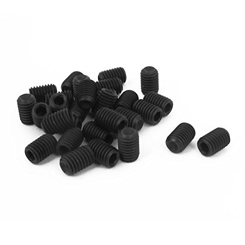 M8 x 12mm Hex Socket Set Cup Punkt Gewindestifte Schwarz 30pcs (M8 12 Punkt)