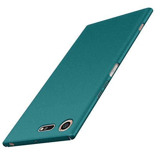 Avalri für Sony Xperia XZ Premium Hülle, Ultradünne Handyhülle Hardcase aus PC Stoß- & Kratzfest Kompatibel mit Sony Xperia XXZ Premium (Kies Grün)