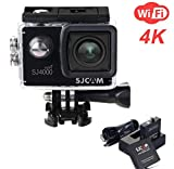 ZIHENGUO SJ4000 WiFi Action-Kamera 2,0-Zoll-LCD-Bildschirm 1080P HD Tauchen 30M Wasserdichte Mini-Camcorder-Sport-DV-Antenne-Camcorder-Fahrrecorder,Black