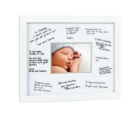 Pearhead Signature Cadre Guest Book - Parfait pour tout registre de bébé, comprend un tapis pour les invités à laisser des