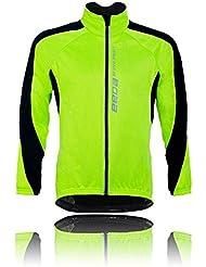 Escudo aire libre Hombres / Mujeres Ciclismo manga larga viento montar en bicicleta chaquetas Jersey verde