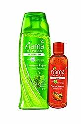 Fiama Di Wills Lemongrass and Jojoba Gentle Exfoliation Shower Gel, 250 ml with Free Shower Gel, 100ml