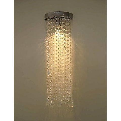 Industriale moderna parete in ottone applique Lampada parete retrò luce Vintage rustico luce da parete50W MR16 cromato luce da parete con catene di cristallo , 220-240V