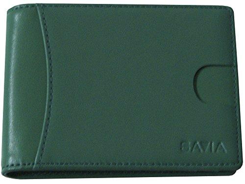 Savia Cartera Billetera Marca Española Verde Cuero Natural RFID Unisex Artesanal Moderna