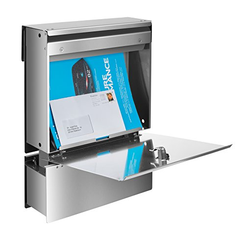 Frabox Edelstahl Design Zaunbriefkasten NAMUR - 4