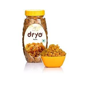Dryo Premium 100 % Natural Brown Raisin, Golden Raisins /Kishmish Plastic Jar of 250g