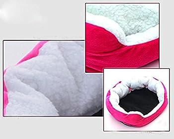 Cdet Rond ou ovale en forme de coussin matelas lit pour Chien/Chat Animaux Lit Pet Cat Bed pour chats et petits chiens Fournitures pour animaux 46x42x10cm