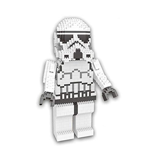 Wise Hawk Große Figur Storm Trooper aus Star Wars. Figur gebaut mit Nano-Bausteine. 1050 Teile. (Wars-storm Trooper Star)