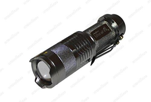 BRIGHT 300lm 5W CREE Q5LED SMD zoombaren Aluminium tragbare Taschenlampe Taschenlampe - 300lm Cree Q5 Led