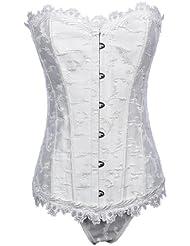 Brocart Topwedding équilibre floral désossées corset bustier