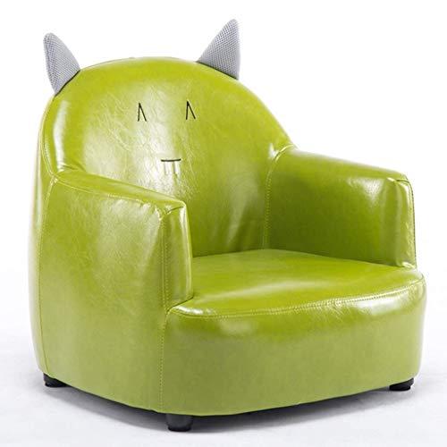 LMCLJJ Pu Leder Liege zeitgenössische Kinder Liege pu Leder Lounge möbel für Jungen und mädchen becherhalter Kinder Sofa Stuhl kindersofa (Color : Green) - Leder-zeitgenössische Möbel