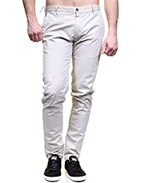 Kenzarro - Chino Kd67003 Chino Off White - Couleur Gris - Taille US 31