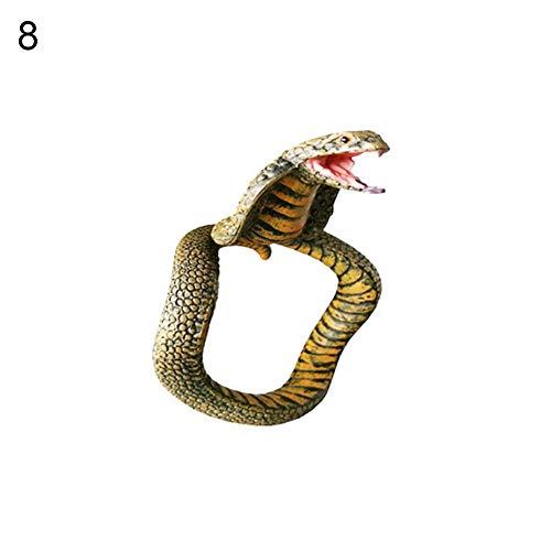 Schlange Kind Kostüm - Renendi Prank Spielzeug Simulation PVC Cobra Schlange Armband Lebensechte Party Supplies Halloween Geschenk 8