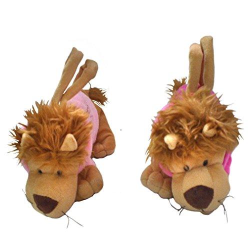 JTC Kinder Plüsch Handtasche Süße Tierstil Tasche Weiche Schultertasche Pink Löwe