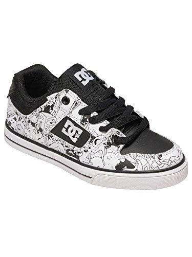 DC SHOES YOUTH PURE X AT BLACK WHITE PRINT FW 2017-usk 3 eur 34 cm 22