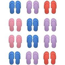 Hysagtek - 12pares de sandalias para la ducha, arena, playa de espuma, color al azar.