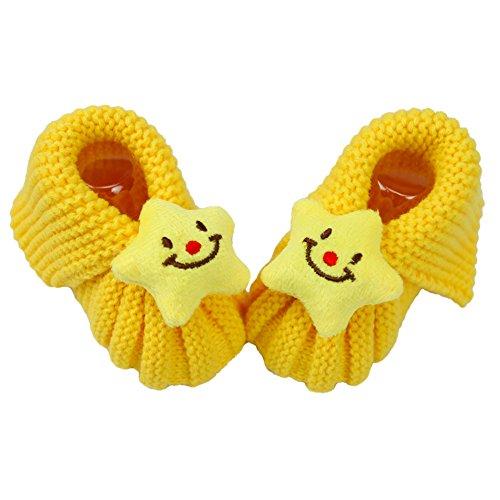 CHIC-CHIC Chaussette Tricot Bébé/Enfant Chausson Migon Chaussure Souple (Étoile) Étoile