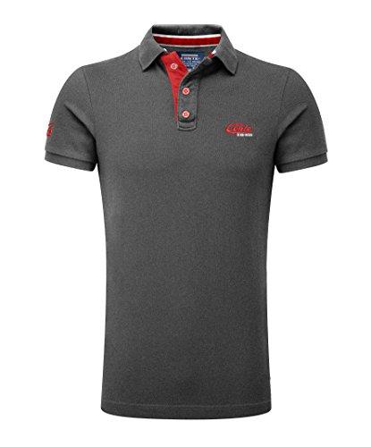 M.Conte Herren Poloshirt Basic Men's Kurzarm Polohemd T-Shirt Polo-Shirt Pique- Gr. XL, Anthracite