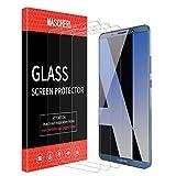 MASCHERI Protection Écran pour Huawei Mate 10 Pro, [3 Pièces] Verre Trempé [Garantie à Vie] Screen Protector pour Huawei Mate 10 Pro -Transparent