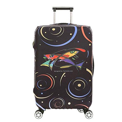 YiJee Mode Gepäck Schutz Abdeckung Elastic Schwarz Koffer Abdeckung Wie Das Bild 4 M