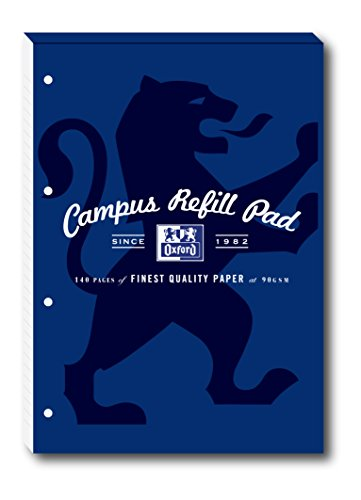 Oxford Campus A4 Size Refill Pads - Navy, Pack of 5 Test