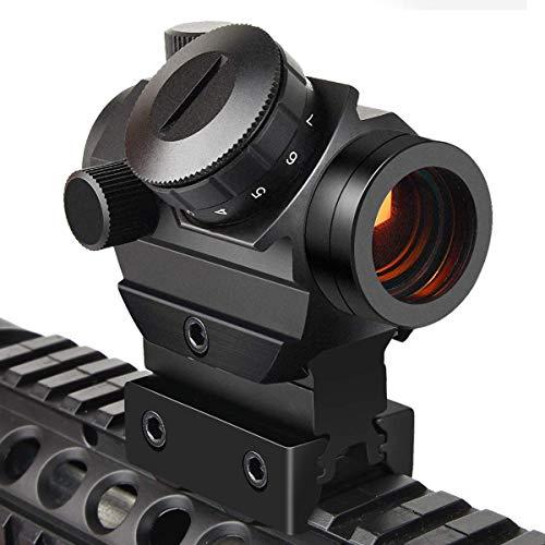 Viiko Red Dot Visier 1x25 Reflex Rotpunktvisier Wechselbares 2MOA Punkt Holographische Zielfernrohr 1