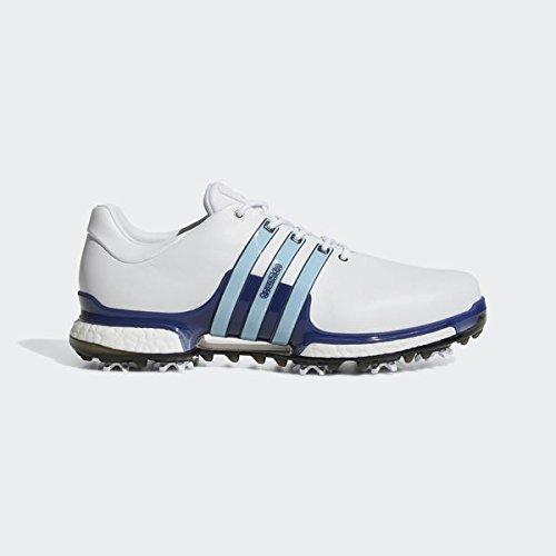 adidas Tour 360 Boost 2.0, Scarpe da Golf Uomo, Bianco/Rosso F33790, 47 1/3 EU
