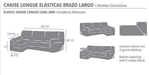3290f4395db Eysa Funda Chaise Longue elástica, Tela, Gris, Tres Plazas ...