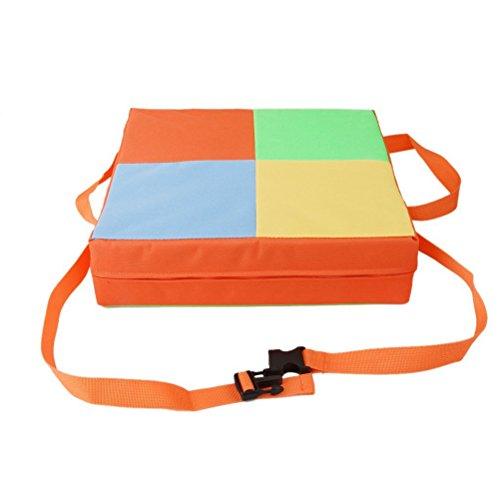 NUOLUX Bebé Niños Niños Silla de comedor Asientos de amortiguador Desmontable y ajustable Asiento de refuerzo Sillón Mat (naranja)