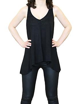 SODACODA Algodón Camiseta sin mangas para mujer – Verano Sport Gym Tank Top